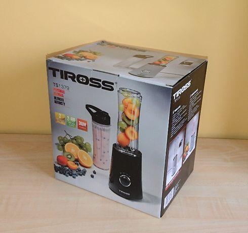 Nowy / Blender kielichowy osobisty Tiross TS1379 czarny + 2 butelki