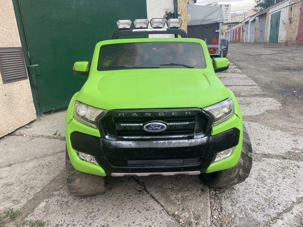 Детский джип Ford Ranger полный привод новый аккумулятор 18Ah