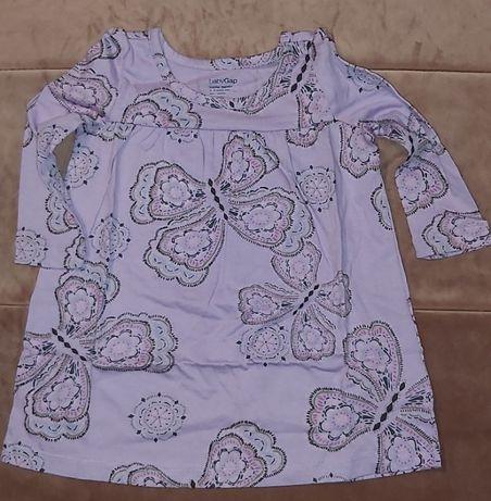 Nowa Sukienka tunika GAP w motylki 12-18mies 80cm