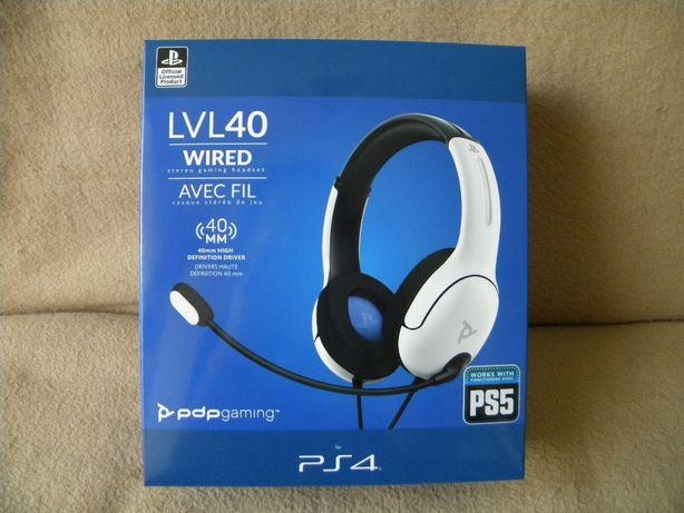 Słuchawki z mikrofonem PDP LVL40 Wired gaming PS4/PS5 NOWE WARTO