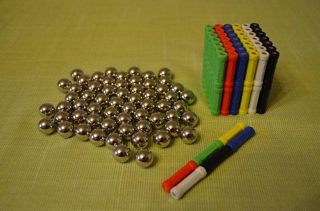 Zabawki magnetyczne klocki magnetyczne konstukcyjne zestaw 150 el