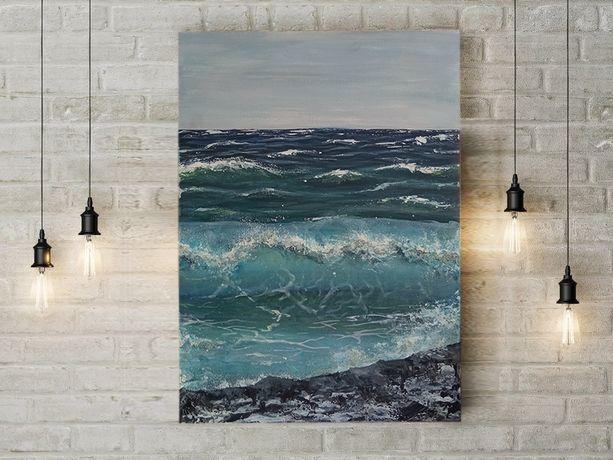 Картины в наличии Море картина в рамке Морской пейзаж подарок