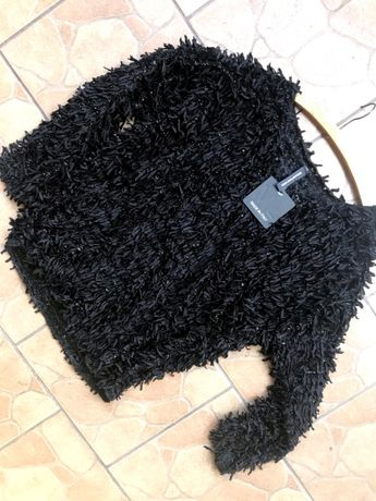NOWY sweter czarny r.M/L