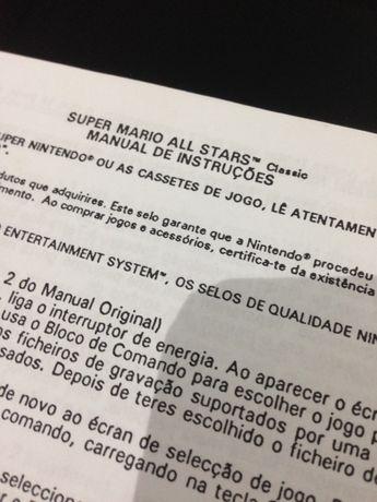 Instruções raras super Mário all stars (super Nintendo / snes)