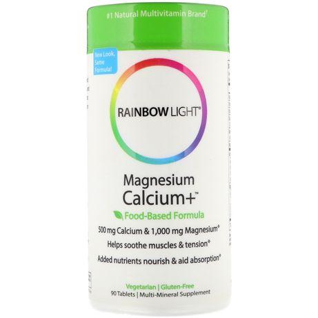 Rainbow light, Кальций магний Д3, США, 90 капсул