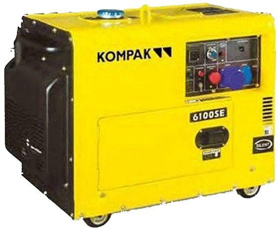 Gerador de corrente a diesel Arranque eléctrico 5,3 KW 220V