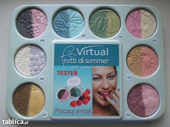 Paleta 8 kolorów podwójnych cieni do powiek JOKO Virtual Frutti di sum