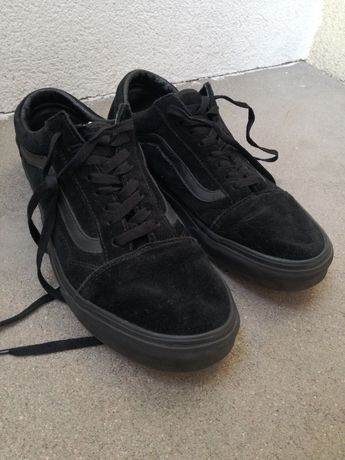 Vansy skórzane czarne