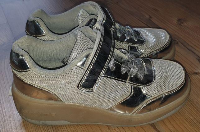butorolki srebrne buty na rolkach r. 36