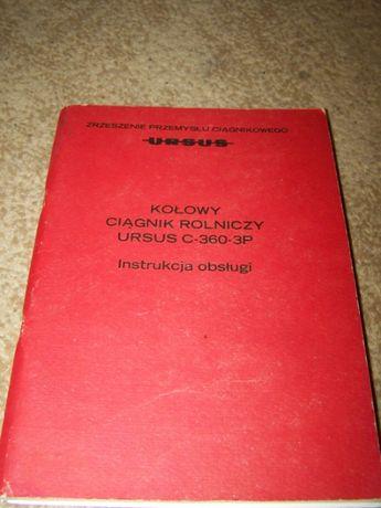 instrukcja obsługi Ursus C-360-3P oryginał PL unikat PRL 1987 + GRATIS