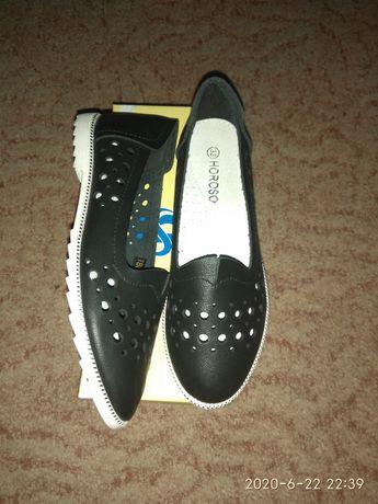 Туфли с перфорацией эко-кожа 33 р 20 см