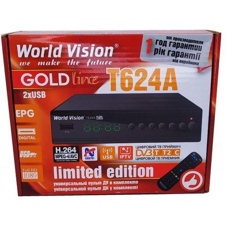 World Vision T624A/Т624А тюнер/ресивер Т2-ТВ Модель 2021 года Магази