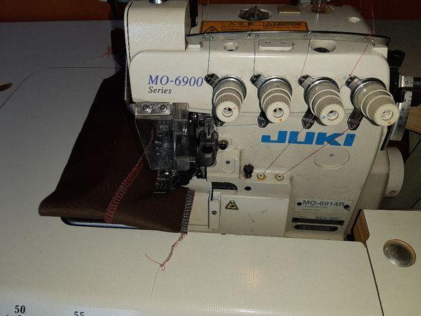 maszyna do szycia overlock juki mor 6914R krawiecka szwalnicza