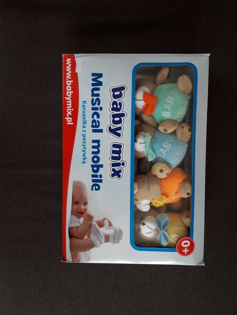 Дитячий механічний мобіль Baby Mix 0+з ведмедиками