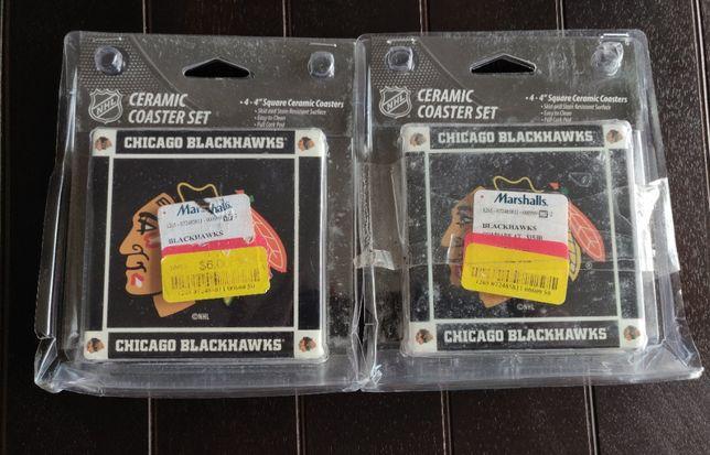 Керамические подставки с символикой NHL Chicago Blackhawks (США)