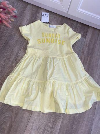 Желтое Платье Zara kids 7 лет рост 122 см