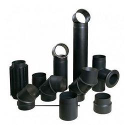 Чорна димохідна труба Darco, Купити декоративний димохід, дарко труба