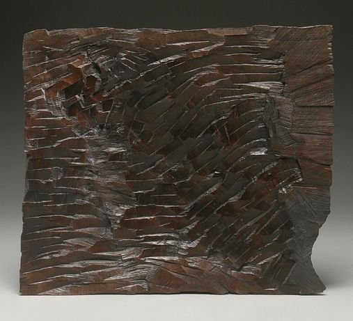 rzeźba dąb monolit ciosana dłutem