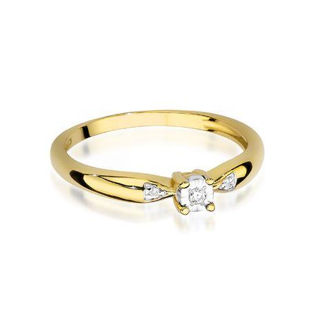 -20% !! Złoty pierścionek z brylantami - Goldrun Chorzów