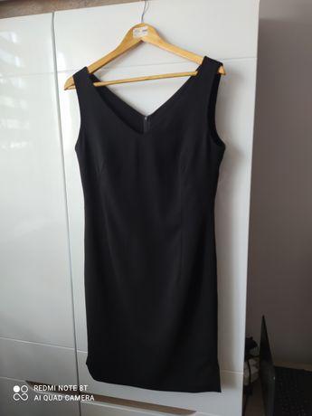 Elegancka czarna sukienka r. 40