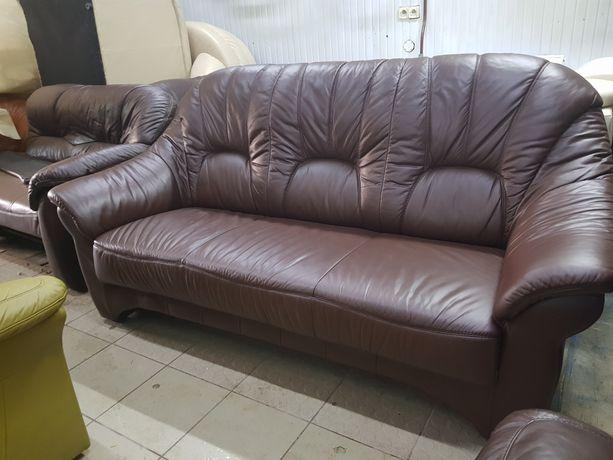 Sofa skórzana kanapa skóra jak nowa