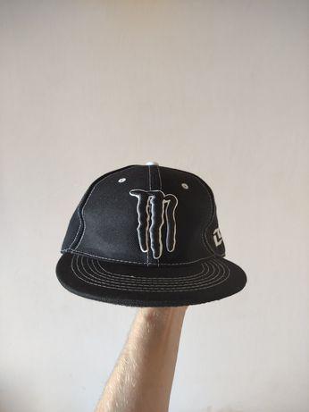 Monster energy кепка оригинал с ровным прямым козырьком реперка прямая