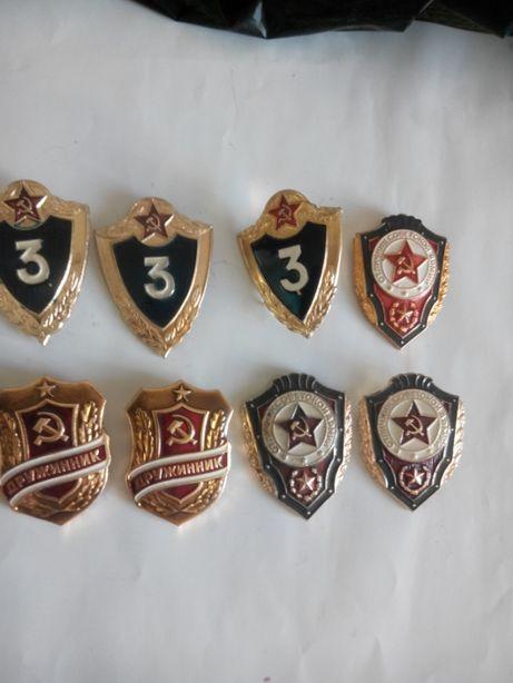 Нагрудный знак Классность ВС СССР 3 класс солдат отличник СА дружинник