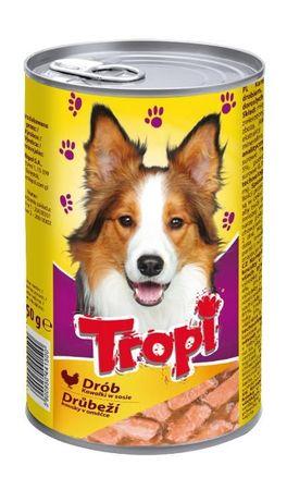 Karma dla psa w puszce 1250g smak z DROBIEM