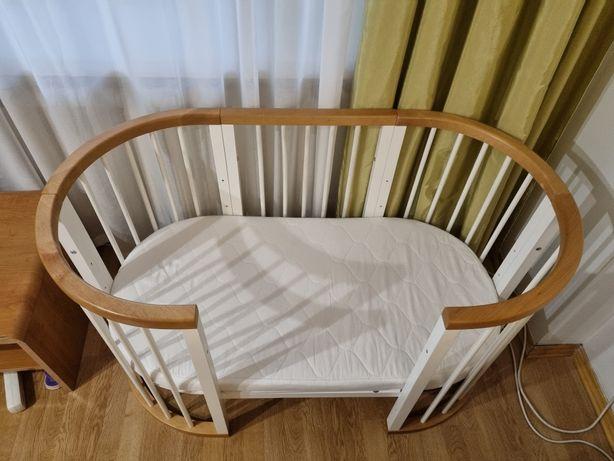 Круглая кроватка-трансфоомер 9 в 1 с матрасом
