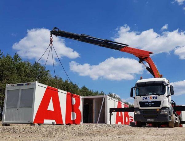 Usługi transport hds galsta usługi dźwigowe kontenery maszyny