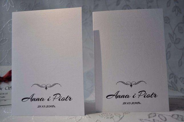 Zaproszenia ślubne, papier tłoczony, szybka realizacja
