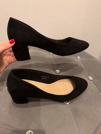 Czarne buty czółenka szpilki