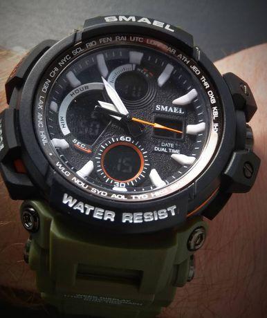 Zegarek SMAEL sportowy podwójny czas z prezent
