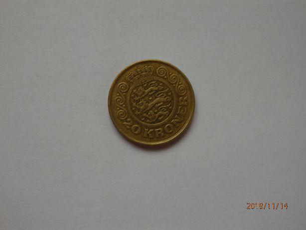 Монета 20 крон. Дания, 1991