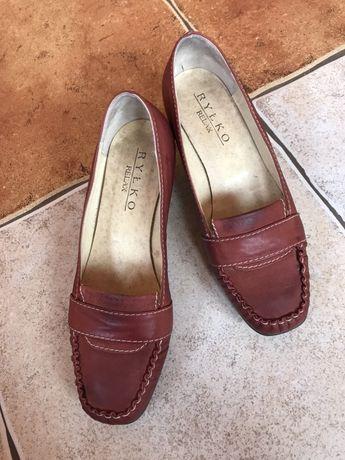 Buty pantofelki Ryłko skórzane 37 bardzo wygodne