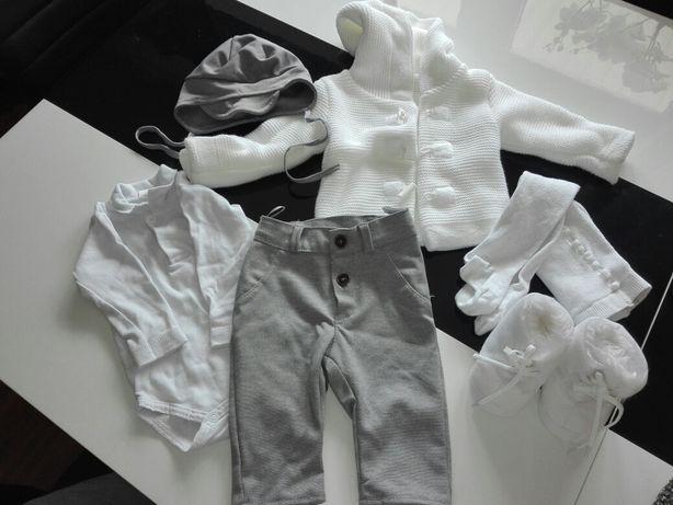 Ubranko do chrztu, spodnie, sweterek, body