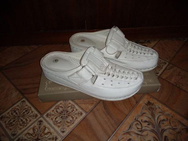 Buty Laczki Damskie Białe Wsuwane Na Co Dzień Rozmiar 36/37