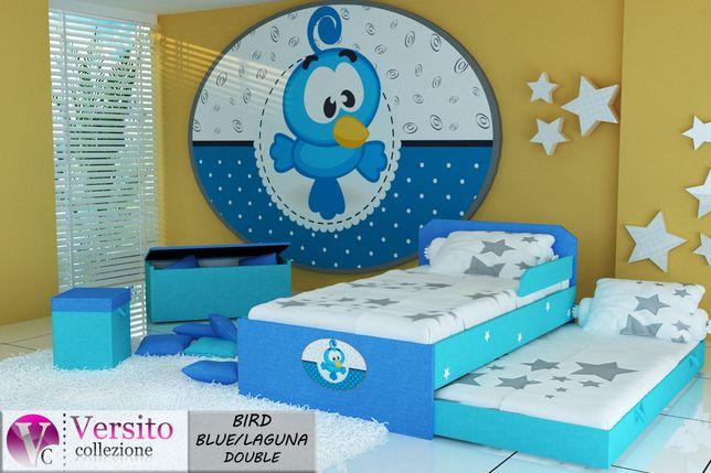 Łóżko piętrowe-niskie,wysuwane,dziecięce,tapicerowane tkaniną,Dostawa