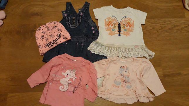 Paka zestaw paczka dla dziewczynki 68, body,pajace,bluzki
