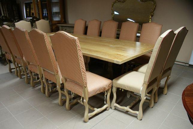 Angielski Komplet do Salonu Jadalni Stół 14 Krzeseł Niesamowity:)