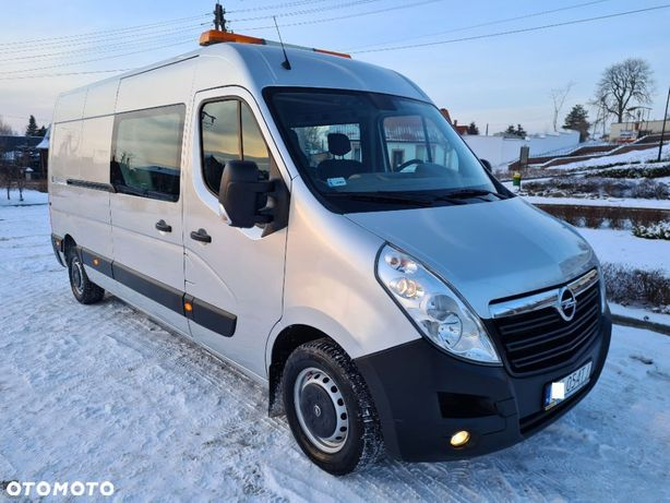 Opel Movano  L3H2/7 Osobowy/NISKI PRZEBIEG/1 Właściciel/PL salon/SERWIS ASO/srebrny