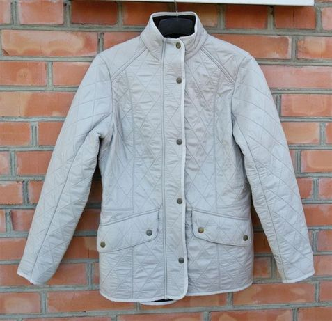 BARBOUR Polarquilt стеганная куртка стеганка на флисе оригинал UK 12