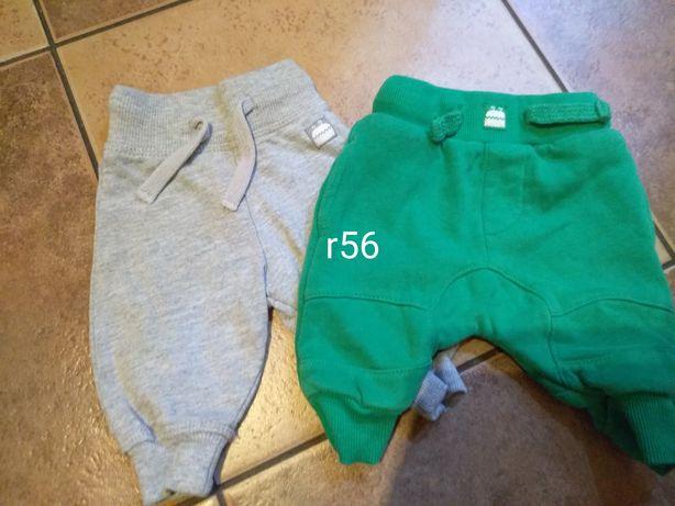 Spodnie dresowe,rampersy0-3msc