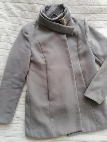 Płaszcz szary Mango ciążowy Jesienny zimowy ciepły