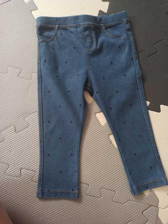Joggery jeansowe w kropki Zara