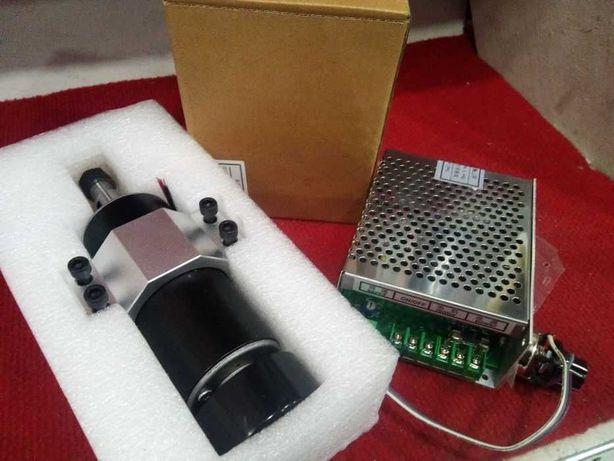 Spindle Motor 500W c/ pinças de 52mm + Fonte de alimentação