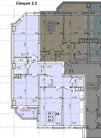 3к.квартира в сданной части ЖК Real park,от хозяина,вид на рощу