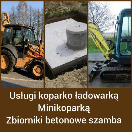 Zbiorniki betonowe szamba betonowe deszczówka koparko ładowarka