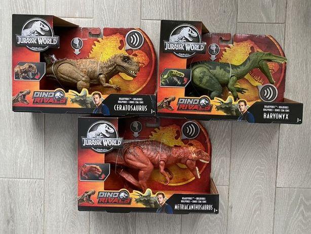 Динозавры. 3 вида! интерактивный,звук Jurassic World Метриакантозавр