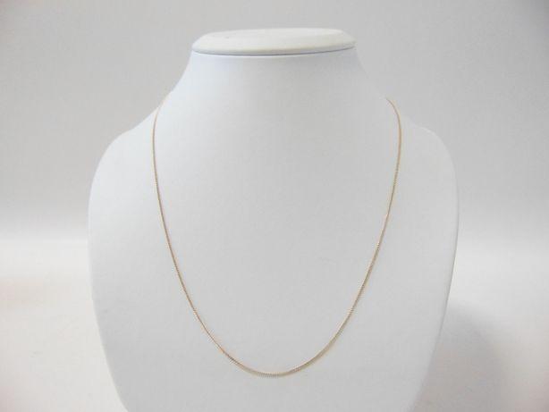 Delikatny złoty łańcuszek -585- DŁ.53CM